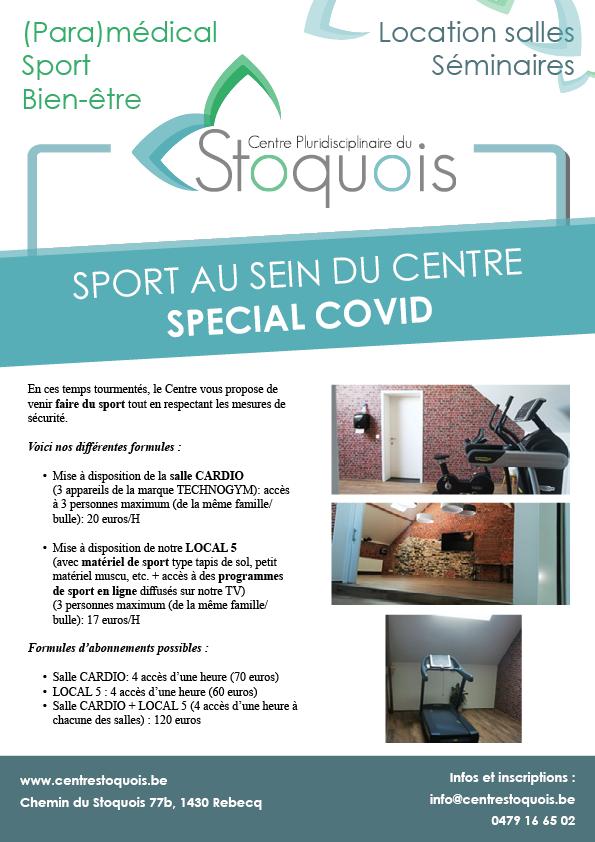 Special COVID - sport au sein du centre